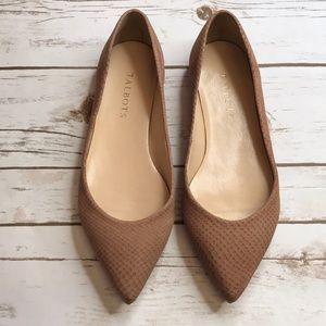 Tan Leathered Flats